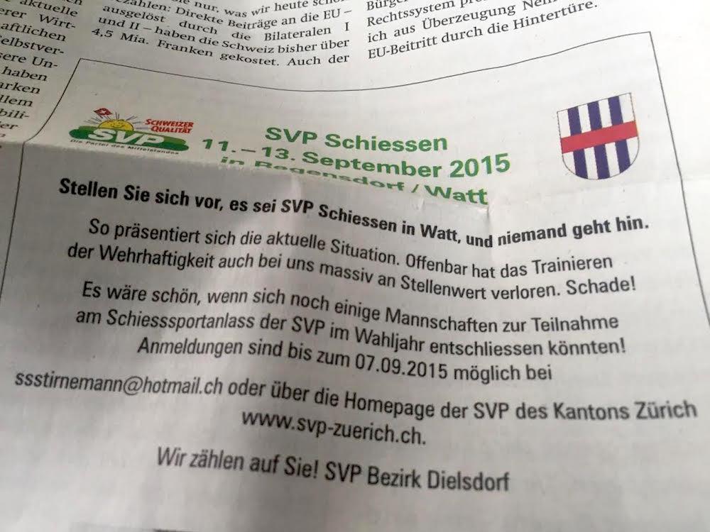 SVP Schiessen