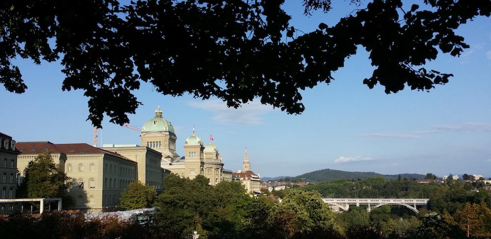 Das Bundeshaus in Bern am 8. September 2015.