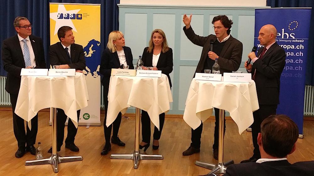 Europa-Diskussion im Zürcher Volkshaus am 8. Oktober 2015.